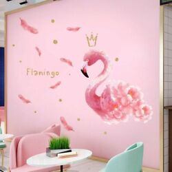 Wall Stickers Queen Flamingo Removable Decals Vinyl Diy Mural Home Decorations