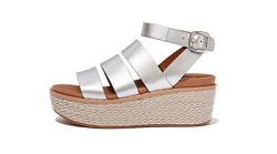 Women's Eloise Espadrille Leather Wedge Sandals - Free Delivery
