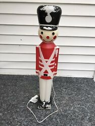 Vintage Union Products 30 Christmas Lighted Blow Mold Nutcracker Soldier