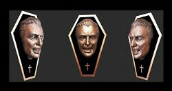 Life Size Bust Dracula Christopher Lee Mounted Bronze And Black