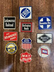 Vintage Tin Railroad Signs Post Cereal Lot Of 10