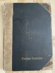 Rand Mcnally Indexed Atlas Of The World Foreign Countries Antique Book 1894