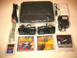 Nec Turbo Duo Console Bundle + 4 Games All Hookups/+ Extras/usa/preowned