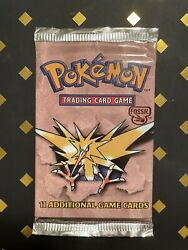 1999 Pokemon Unlimited Booster Pack Fossil Rare Factory Sealed Vintage Wotc