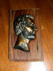 Abraham Lincoln Springfield Home Wood Relic 1907 5.5 X 10.5