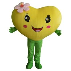 Heart Love Mascot Costume Adult Suit Halloween Party Dress Outfit Wedding Party