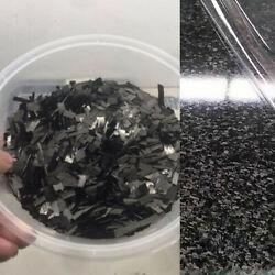 Black Carbon Fiber Block Flake Chopped Filament For Wallet Forged Decorate