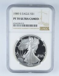 Pf70 Ucam 1989-s American Silver Eagle - Graded Ngc 2480