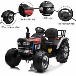 Electric 12v Kids Ride On Tractor Car Vehicle Battery Powered W/remote Mp3 Black
