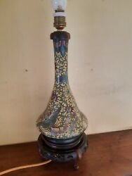 Antique 19th Chinese Cloisonne Vase Converted To A Lamp By French Retailers