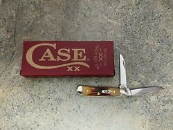 Case Red Stag Tiny Trapper Knife 09580 Clip And Wharncliffe Blades