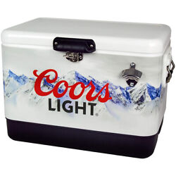 Koolatron 54 Qt Coors Light Ice Chest Hard Cooler With Bottle Opener Used