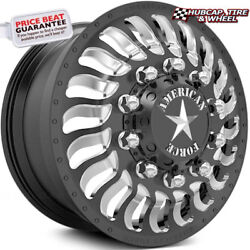 American Force Spec 28x8.25 Black Dually Wheels Set Of 6-forged