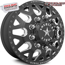 American Force Quake 28x8.25 Black Dually Wheelsset Of 6-forged