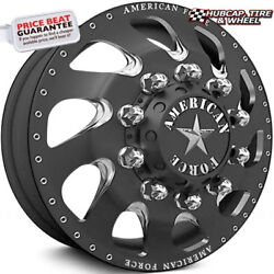 American Force Wicked 28x8.25 Black Dually Wheelset Of 6-forged