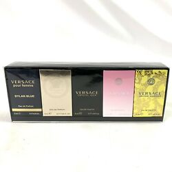 Versace Miniatures Collection 5pc. Perfume Gift Set Dylan Blue Eros Crystal Noir