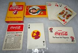 Coca-cola® 1943 Wwii,girl With Falling Leaves Playing Card Deck Joker,g 1909 A♤