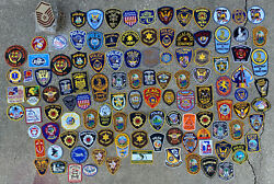 Lot Of 225 Law Enforcement State police Patches Military Vintage Sheriff
