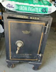 Vintage The Reliable Safe And Lock Cast Iron Safes