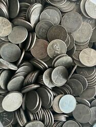 Steel Wheat Cents 50 Lincoln Wheat Pennies Old Us Coin Lot Set Penny