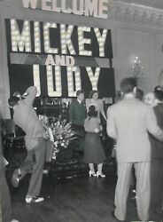 4' Tall Judy Garland Mickey Rooney Candid Promo Tour Photograph 1940 Taft Hotel
