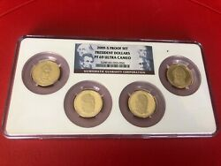 2009-s 1 Presidential Dollar Proof Set Ngc Pf69 Uc Ngc 4 Coins Set Holder