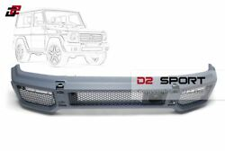 G65 Style Body Kit Front Bumper + Led Lights Fit For Mercedes W463 G-class Wagon