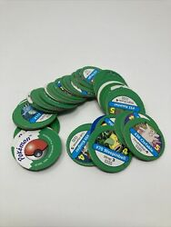 Pokemon Master Trainer Board Game Replacement Parts Set Of 39 Green Chips Pogs