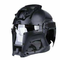 Military Protective Full Covered Helmet Tactical Shooting Hunting Airsoft Cs
