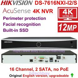 Hikvision Ds-7616nxi-i2/s 16ch 2sata Acusense 4k Nvr 4-ch Deep Learning No-poe