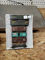 N Scale Mixed Lot Boxcars/ Tank Car Nyc/gn/union/pge/seaboard/ Santa Fe