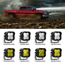 Lasfit 3inch Led Pod Off Road Cube Work Lights For Chevy Silverado 1500 2500 2x