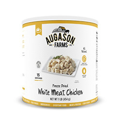 Augason Farms Freeze-dried White Meat Chicken 100 Real Precooked Chicken Food