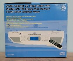 Electro Brand Under Cabinet Cd Player Clock Radio Am And Fm Kitchen Timer New