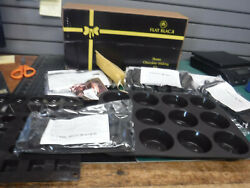Flat Black Home Chocolate Making Kit 9 pc set 6 Molds Spatcula amp; Gold Bags NEW $49.99