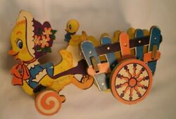 Vintage Toy 50s Duck Pull Toy By The Dolly Toy Co. Cardboard Rare Find