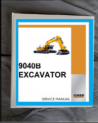Case 9040b Loader Tracked Excavator Shop Service Manual And Operator Manual Set
