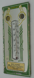 Old Beer Distributor Advertising Thermometer, Lebanon, Pa, Good Luck, Mirror