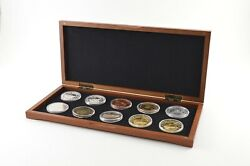 10 Coin Set R.m.s. Titanic 1 Oz Silver, Gold Plated, Copper Rounds - Box 9433