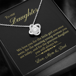 Necklace Gift For Daughter - Birthday Christmas Graduation - From Mom And Dad