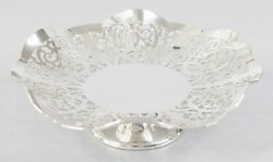 English Mappin And Webb Silver Plate Reticulated Pedestal Candy Dish Compote