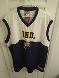 Nba Ind. Lounge Muscle Shirt And Pants Clothes Both Big Mans 2x... Pacers
