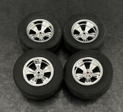 Set Of Rocket Strike Wheels And Tires 1/18 Scale Universal Backs Hard To Find 😮
