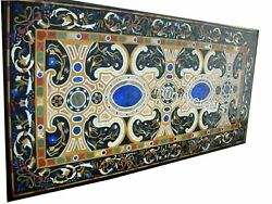 30 X 72 Inches Marble Dining Table Top Antique Design Inlaid Sofa Table For Home