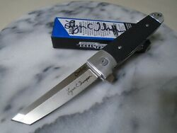 Cold Steel Oyabun Limited Autographed Ball Bearing Tanto Pocket Knife 32aa S35vn