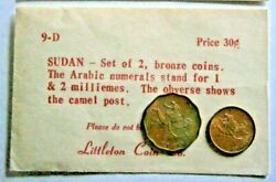 Sudan 1 And 2 Milliemes Coins From Littleton Coin Co.