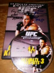 Ultimate Knockouts 1/2/3 Dvd's Ufc As Real As It Gets W/ Photo All Items Signed