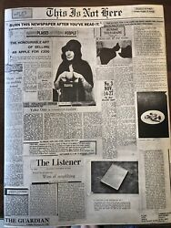 """John Lennon/yoko Ono """"this Is Not Here"""" Newspaper/poster Of Their 1971 Exhibit"""