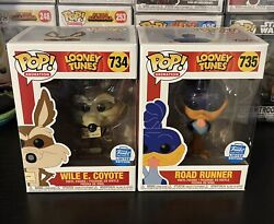 Funko Pop Wile E Coyote And Road Runner Looney Tunes Funko Shop Exclusive