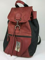 RED Coach Backpack 1996 Atlanta Olympics Collectable M5M 698 Leather amp; Nylon $82.99
